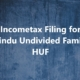 HUF, Hindu Undivided Family,Incomwe tax Filing for HUF